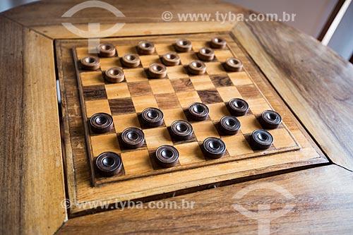Detalhe de tabuleiro de jogo de damas  - Minas Gerais (MG) - Brasil