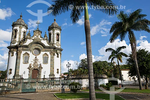 Fachada da Igreja de São Francisco de Assis (1774)  - São João del Rei - Minas Gerais (MG) - Brasil