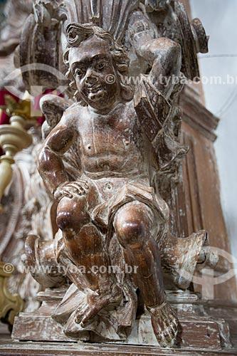Anjo barroco de Aleijadinho no interior da Igreja de São Francisco de Assis (1774)  - São João del Rei - Minas Gerais (MG) - Brasil