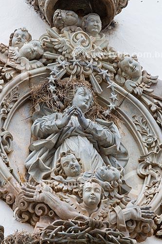 Anjo barroco de Aleijadinho na fachada da Igreja de São Francisco de Assis (1774)  - São João del Rei - Minas Gerais (MG) - Brasil