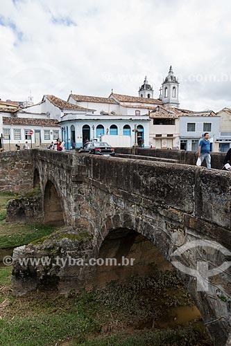 Ponte do Rosário (1800) sobre o Córrego do Lenheiro  - São João del Rei - Minas Gerais (MG) - Brasil