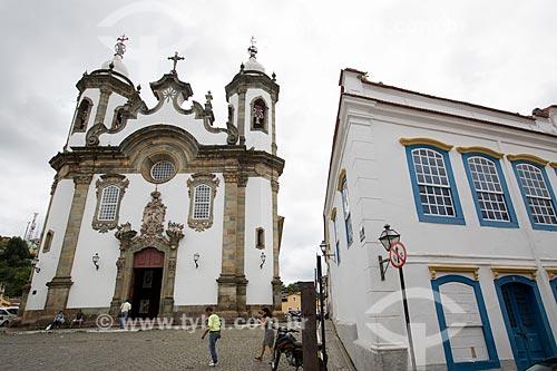 Largo do Carmo com a Igreja de Nossa Senhora do Carmo (1732) ao fundo  - São João del Rei - Minas Gerais (MG) - Brasil