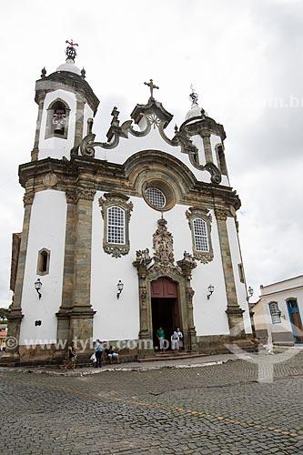 Fachada da Igreja de Nossa Senhora do Carmo (1732)  - São João del Rei - Minas Gerais (MG) - Brasil
