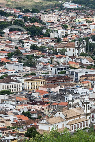 Vista geral da cidade de São João del-Rei a partir do Mirante do Cristo  - São João del Rei - Minas Gerais (MG) - Brasil