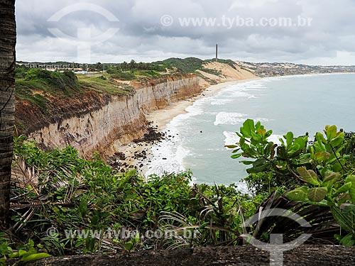 Praia e Falésias no litoral do Rio Grande do Norte  - Nísia Floresta - Rio Grande do Norte (RN) - Brasil