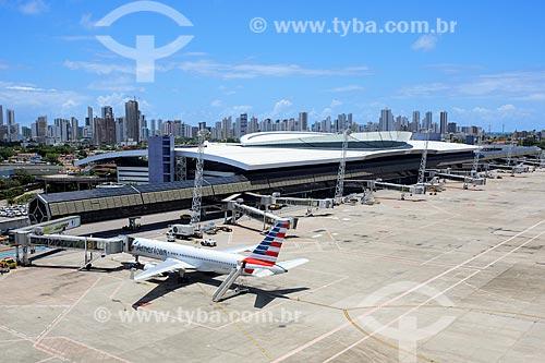 Foto aérea do Aeroporto Internacional do Recife/Guararapes - Gilberto Freyre (1958)  - Recife - Pernambuco (PE) - Brasil