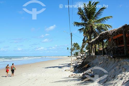 Avanço da maré na Praia de Maracaípe  - Ipojuca - Pernambuco (PE) - Brasil