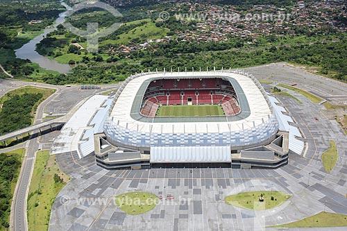 Foto aérea da Itaipava Arena Pernambuco (2013)  - São Lourenço da Mata - Pernambuco (PE) - Brasil