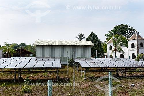 Mini Usina Fotovoltaica da Comunidade de Sobrado - Programa Luz Para Todos  - Novo Airão - Amazonas (AM) - Brasil