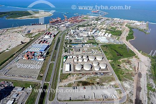 Foto aérea do Complexo Petroquímico no Complexo Portuário de Suape  - Ipojuca - Pernambuco (PE) - Brasil