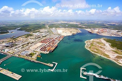Foto aérea do Complexo Portuário de Suape  - Ipojuca - Pernambuco (PE) - Brasil