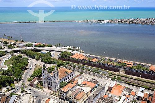 Vista de cima da Igreja Matriz de São José e do Cais José Estelita com Brasília Teimosa ao fundo  - Recife - Pernambuco (PE) - Brasil