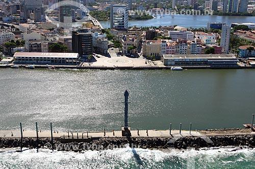 Foto aérea do Parque das Esculturas  - Recife - Pernambuco (PE) - Brasil