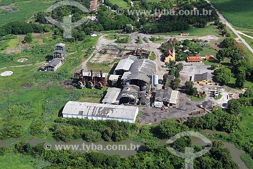 Foto aérea de usina de cana-de-açúcar  - Ipojuca - Pernambuco (PE) - Brasil