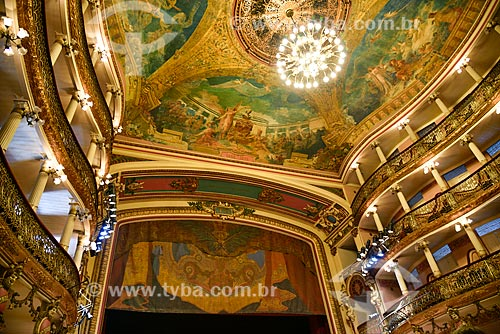 Interior do Teatro Amazonas (1896)  - Manaus - Amazonas (AM) - Brasil