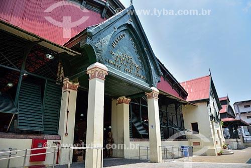 Entrada do Mercado Municipal Adolpho Lisboa (1883)  - Manaus - Amazonas (AM) - Brasil