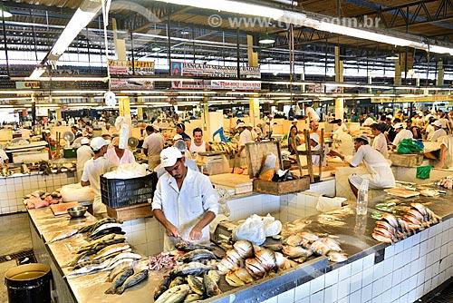 Setor de peixes da Feira da Manaus Moderna  - Manaus - Amazonas (AM) - Brasil