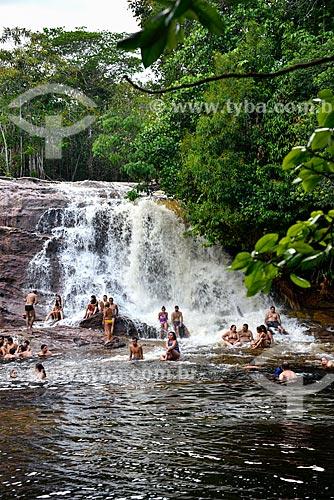 Turistas na Cachoeira de Iracema  - Presidente Figueiredo - Amazonas (AM) - Brasil