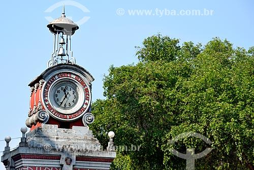 Detalhe do Relógio Municipal de Manaus na Praça do Relógio  - Manaus - Amazonas (AM) - Brasil