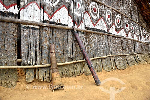 Trombeta de Jurupari e Kapiwayá na tribo Tatuyo às margens do Rio Negro  - Manaus - Amazonas (AM) - Brasil