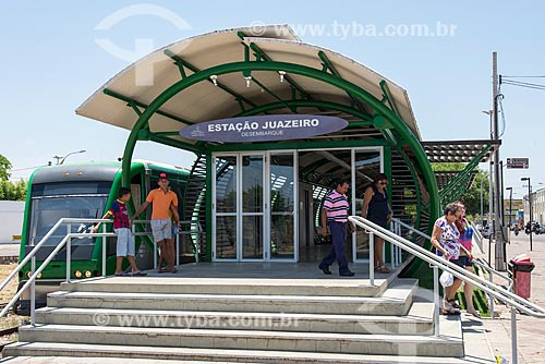 Estação do trem que liga Juazeiro do Norte à cidade de Crato - Chamado de Metrô do Cariri  - Juazeiro do Norte - Ceará (CE) - Brasil
