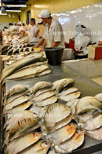 Pacu-caranha (Piaractus mesopotamicus) à venda na Feira da Manaus Moderna  - Manaus - Amazonas (AM) - Brasil
