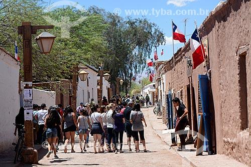 Turistas em San Pedro de Atacama  - San Pedro de Atacama - Província de El Loa - Chile