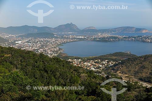 Vista geral das lagoas de Piratininga e Itaipu com as praias de Camboinhas e de Itaipu  - Niterói - Rio de Janeiro (RJ) - Brasil