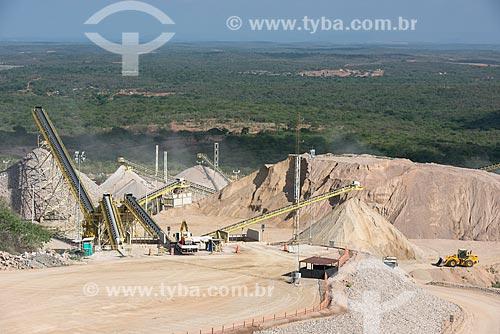 Pátio de britagem da Ferrovia Transnordestina  - Salgueiro - Pernambuco (PE) - Brasil