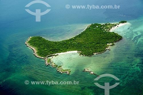 Foto aérea de ilha do Arquipélago das Quirimbas  - Província de Cabo Delgado - Moçambique