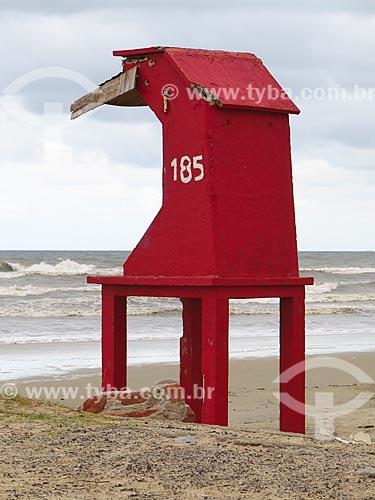 Posto de salva vidas  - Cidreira - Rio Grande do Sul (RS) - Brasil