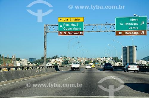 Tráfego no Viaduto do Gasômetro  - Rio de Janeiro - Rio de Janeiro (RJ) - Brasil