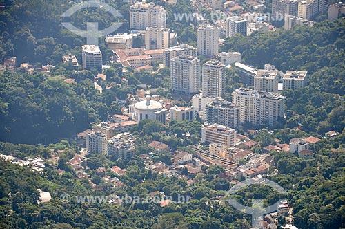 Vista da Paróquia São Judas Tadeu a partir do Cristo Redentor  - Rio de Janeiro - Rio de Janeiro (RJ) - Brasil