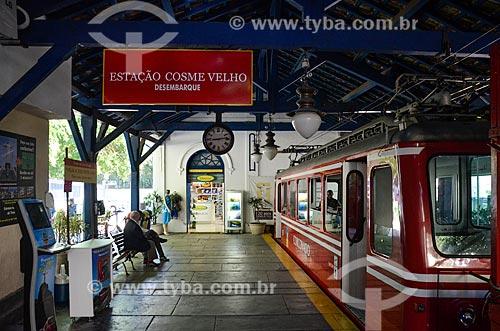Trem na Estação da Estrada de Ferro do Corcovado  - Rio de Janeiro - Rio de Janeiro (RJ) - Brasil