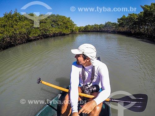 Fotógrafo na Restinga da Marambaia - área protegida pela Marinha do Brasil  - Rio de Janeiro - Rio de Janeiro (RJ) - Brasil