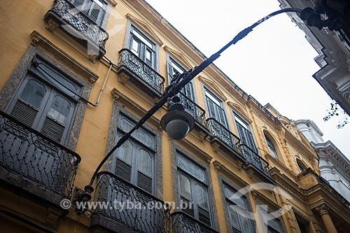 Luminária antiga no Arco do Teles  - Rio de Janeiro - Rio de Janeiro (RJ) - Brasil