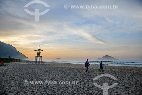 Amanhecer na Praia de Grumari antes do início da etapa brasileira do WSL (Liga Mundial de Surfe) WSL Oi Rio Pro 2016  - Rio de Janeiro - Rio de Janeiro (RJ) - Brasil