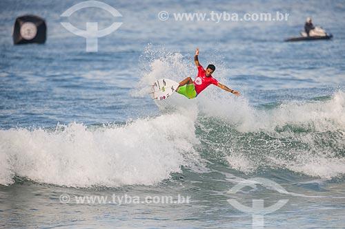 Filipe Toledo surfando na etapa brasileira do WSL (Liga Mundial de Surfe) WSL Oi Rio Pro 2016 na Praia de Grumari  - Rio de Janeiro - Rio de Janeiro (RJ) - Brasil