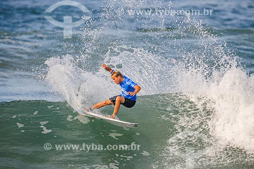 Davey Cathels surfando na etapa brasileira do WSL (Liga Mundial de Surfe) WSL Oi Rio Pro 2016 na Praia de Grumari  - Rio de Janeiro - Rio de Janeiro (RJ) - Brasil