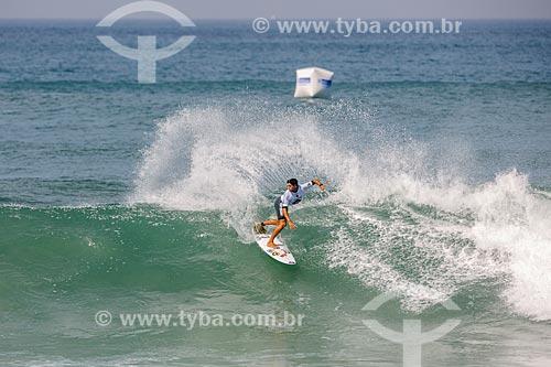 Alex Ribeiro surfando na etapa brasileira do WSL (Liga Mundial de Surfe) WSL Oi Rio Pro 2016 na Praia de Grumari  - Rio de Janeiro - Rio de Janeiro (RJ) - Brasil