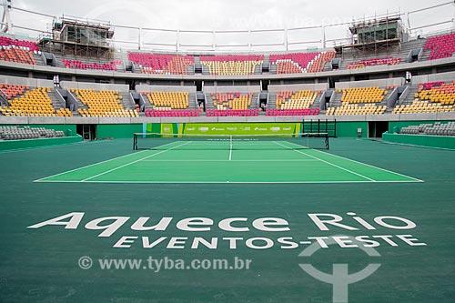 Quadra do Centro Olímpico de Tênis - parte do Parque Olímpico Rio 2016  - Rio de Janeiro - Rio de Janeiro (RJ) - Brasil