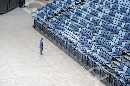 Arquibancada retrátil na HSBC Arena - parte do Parque Olímpico Rio 2016  - Rio de Janeiro - Rio de Janeiro (RJ) - Brasil