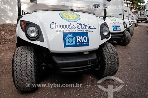 Detalhe de charrete elétrica na Ilha de Paquetá  - Rio de Janeiro - Rio de Janeiro (RJ) - Brasil
