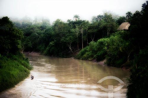 Rio Amônia próximo à Aldeia Apiwta da tribo Ashaninka  - Acre (AC) - Brasil