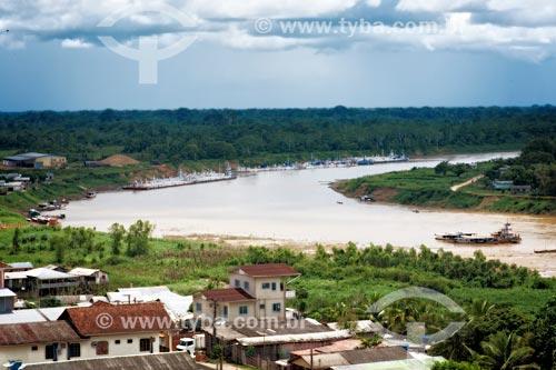 Vista geral do Rio Juruá na cidade de Cruzeiro do Sul  - Cruzeiro do Sul - Acre (AC) - Brasil