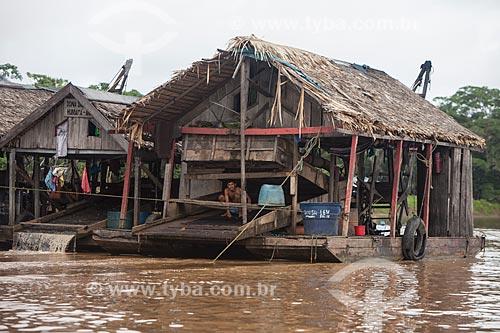 Balsa de mineração no Rio Madeira  - Novo Aripuanã - Amazonas (AM) - Brasil