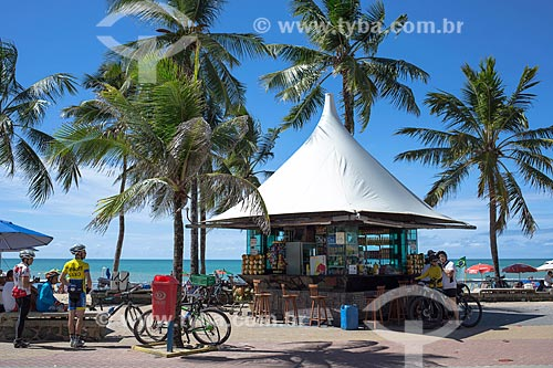 Quiosque na orla da Praia da Boa Viagem  - Recife - Pernambuco (PE) - Brasil