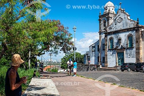 Fachada da Igreja de Nossa Senhora da Misericórdia (século XVII)  - Olinda - Pernambuco (PE) - Brasil