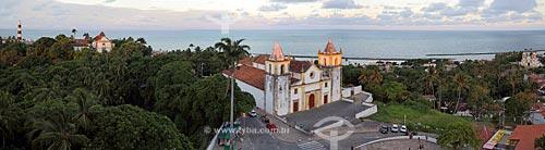 Pôr do sol na Igreja de São Salvador do Mundo - também conhecida como Igreja da Sé (século XVI)  - Olinda - Pernambuco (PE) - Brasil