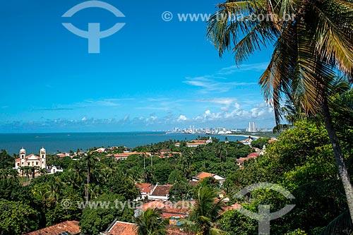 Vista geral de Olinda com Recife ao fundo  - Olinda - Pernambuco (PE) - Brasil